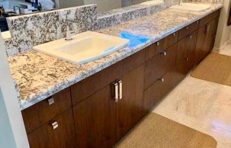 marble bathroom countertop