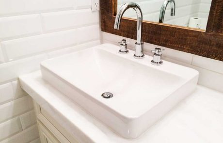 white bathroom sink
