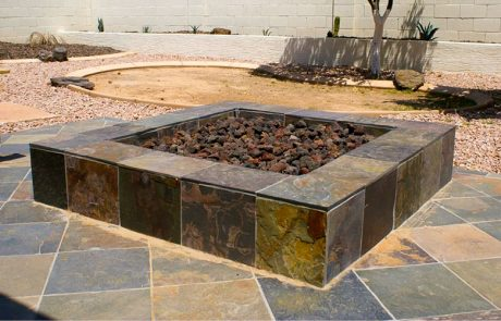 outdoor fire pit square