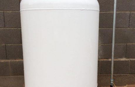 white propane tank