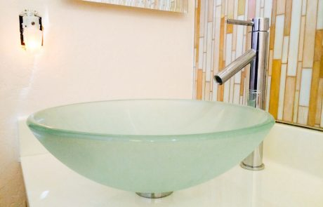green modern sink design
